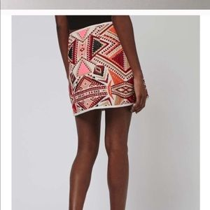 Topshop geometric tribal skirt. NWOT